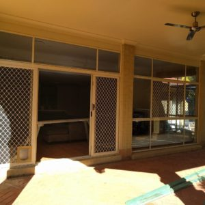 Chermside West Before Photo of existing sliding door and window